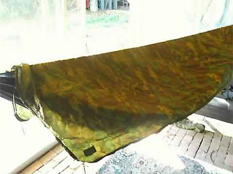 poncho liner as hammock top cover