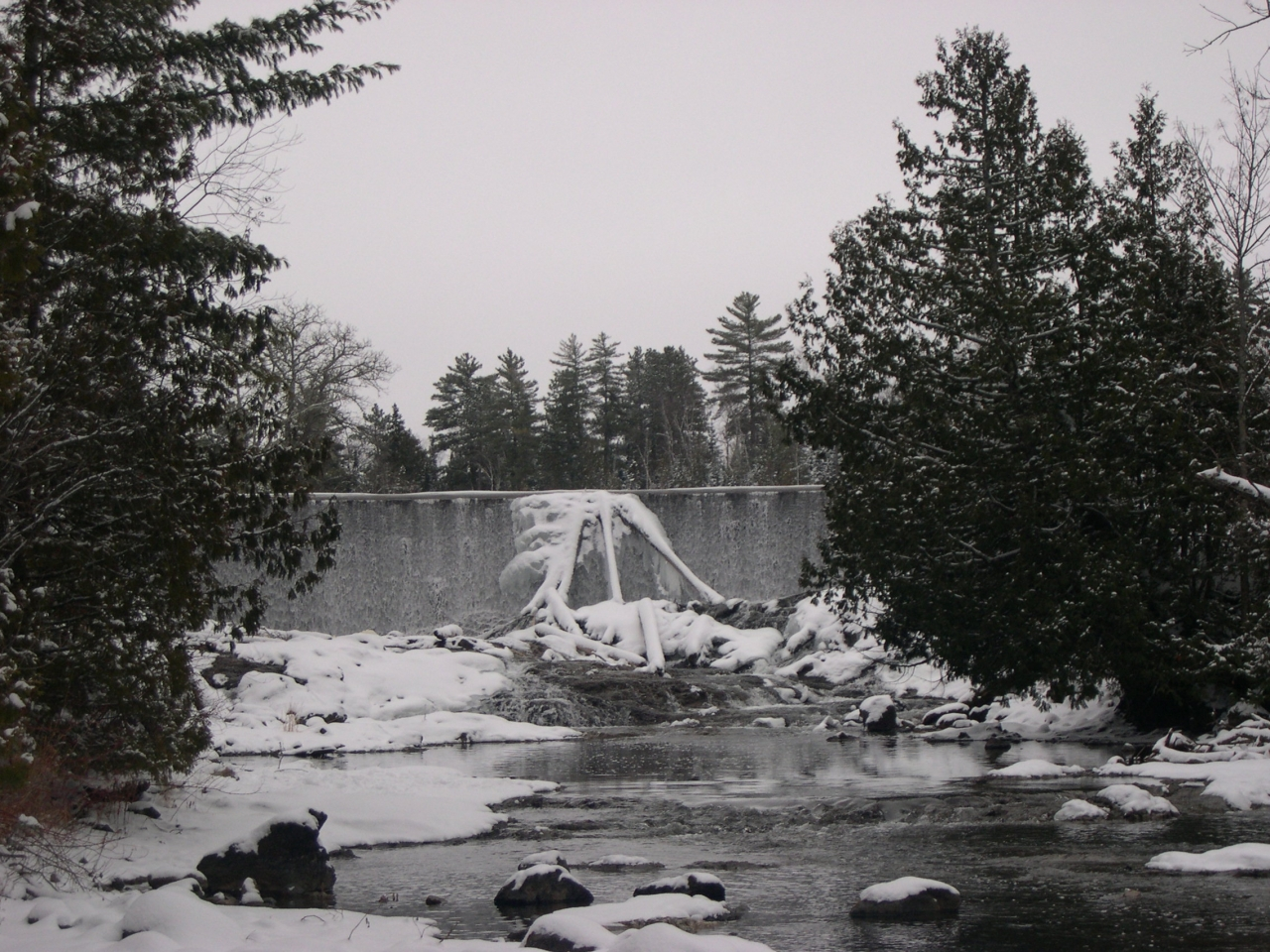 Falls From Basswood Lake