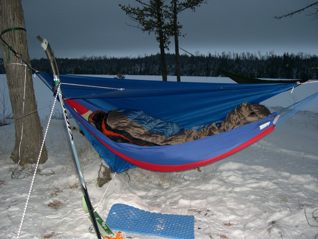 Hammock Camp On Newfound Lake