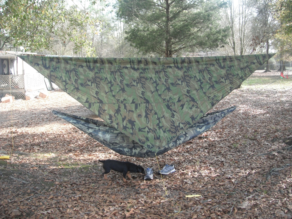 Camo Trek Light Hammock And Camo Tarp