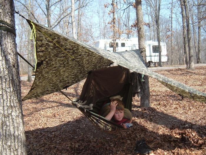 hank and his jungle hammock