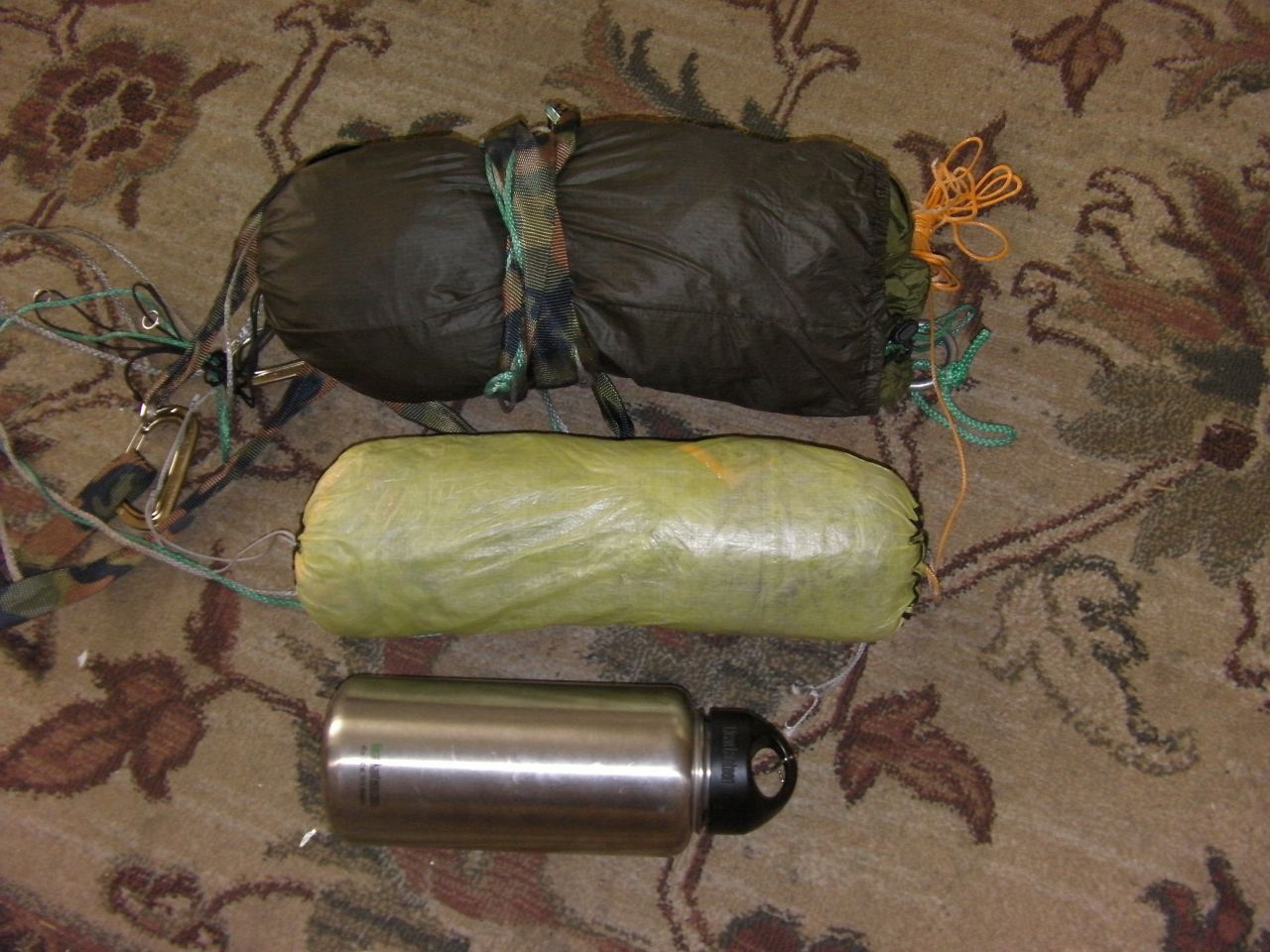Hammock, Tarp, Watter Bottle Comparison