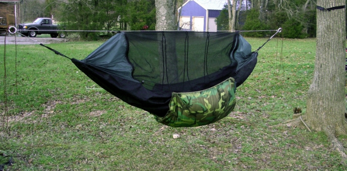 i have one on my clark ul  i think there are some pics in my gallery  it works well with the ring strap setup  clark hammocks and ridge line   rh   hammockforums