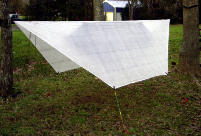 Cuben Fiber tarp with Clark UL