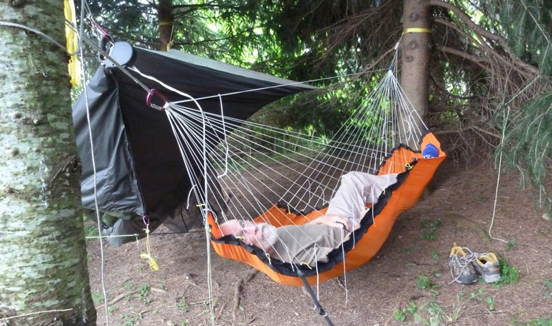 i think this is about the limit though this hammock is very  fortable  the adjustment  pletely eliminates the diagonal fabric ridge under my legs  adjustable hammock not yet insulated  rh   hammockforums