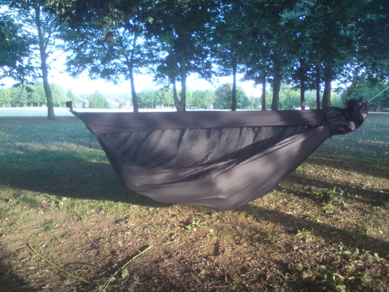 Medium image of diy gathered end hammock with zipper less bug