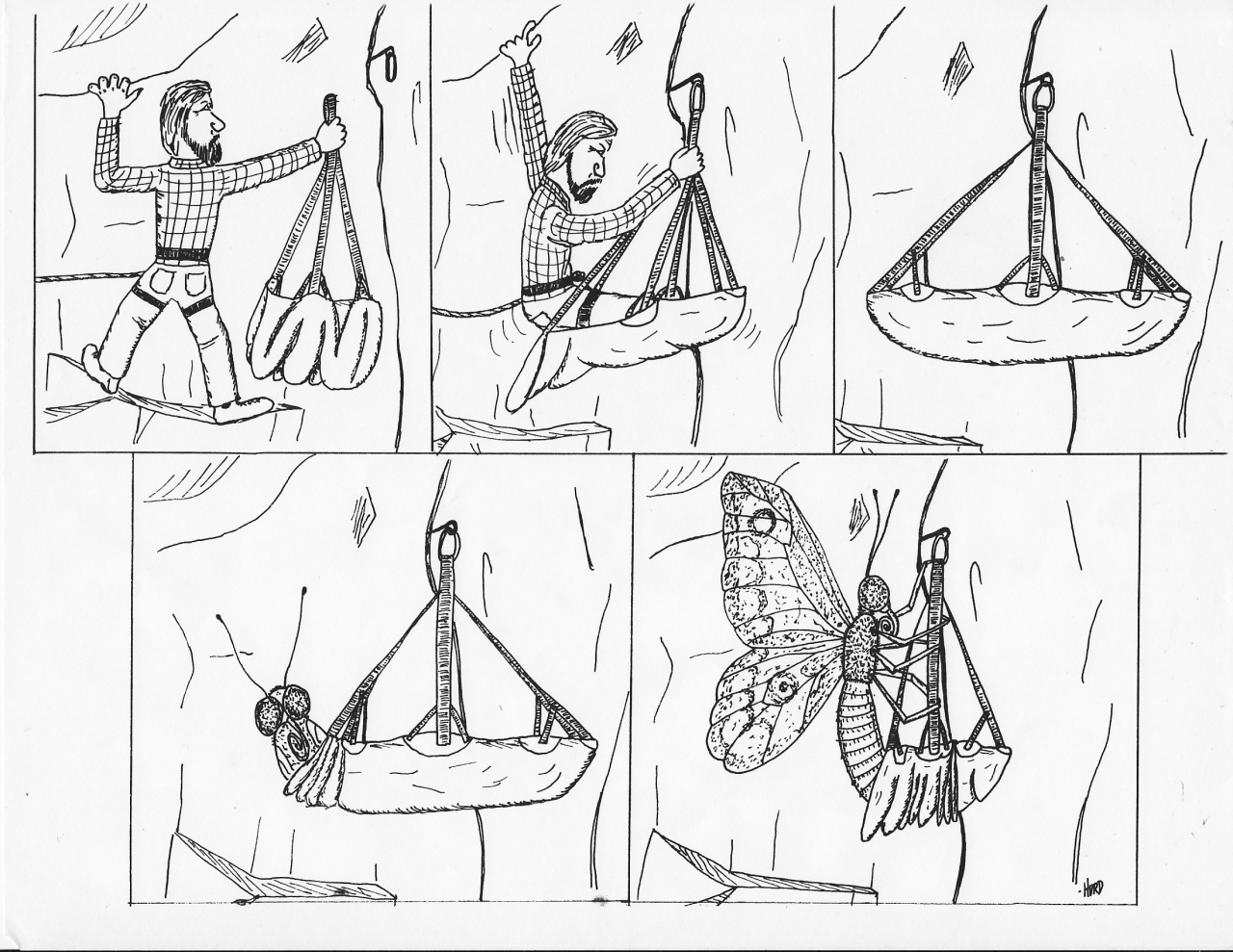 Climbing Hammock Cartoon