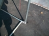 Fence Pole Hammock Stand - T Bracket Attaching The Short Side To The Long Side.