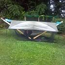 World's simplest treeless hammock stand