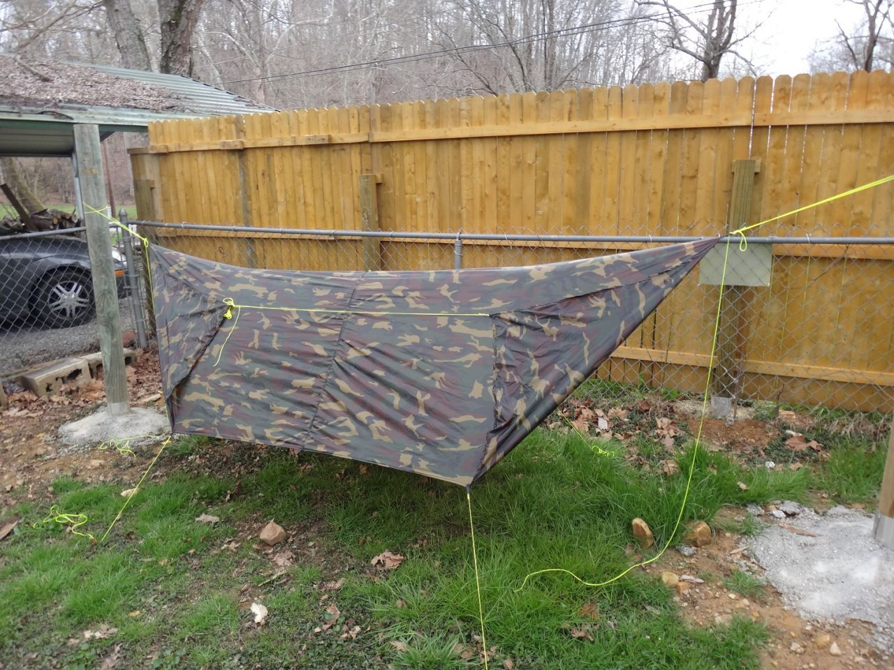 Diy Cammo Sil-nylon Tarp - Sides Up