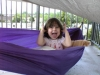 daughter in a Just Jeff's kids hammock