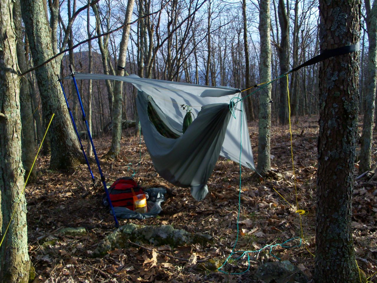 Comfy Solo Camp Using My New Diy Sock And Tarp Combo