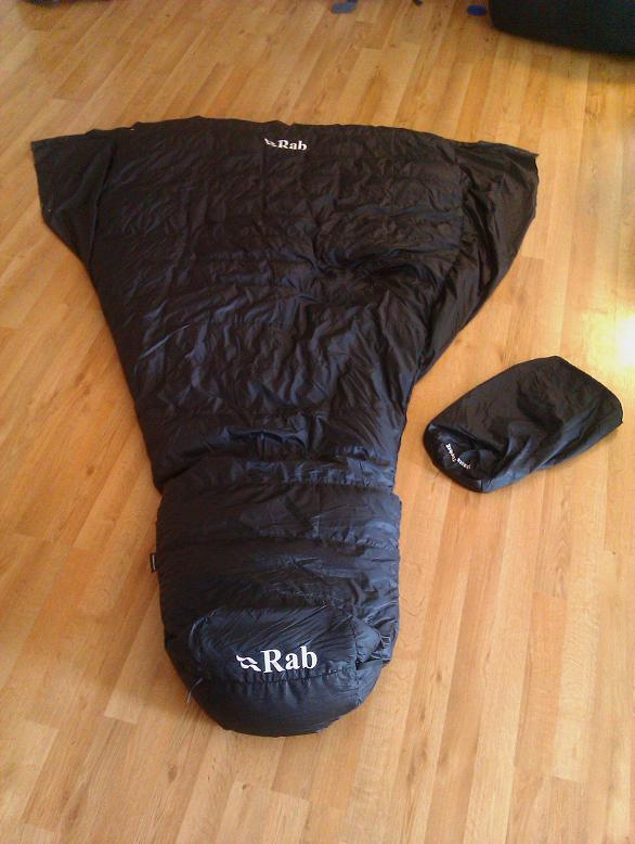 Rab Top Bag Top Quilt Conversion