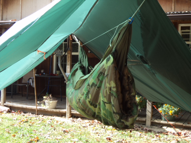 Oldman Winter Tarp Setup