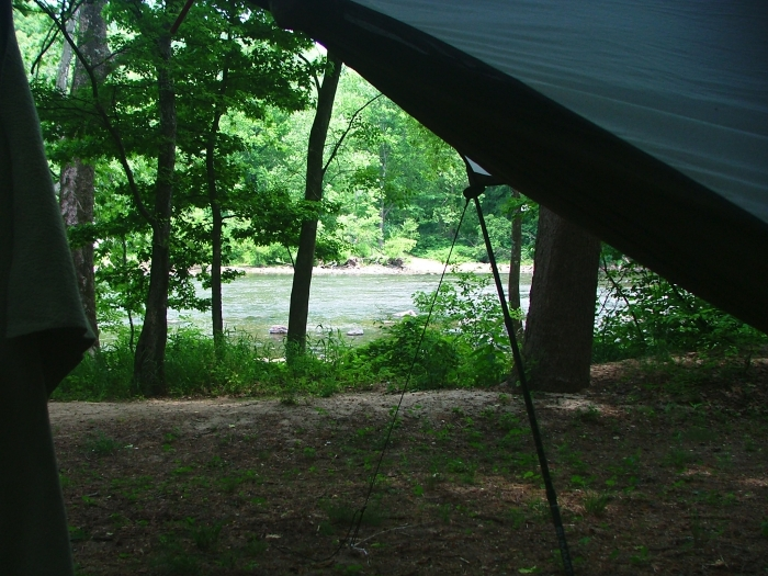 19th SEHHA Campout - My view of the French Broad River