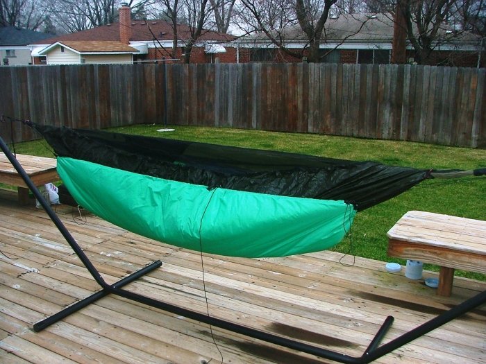 Setup w/o the tarp