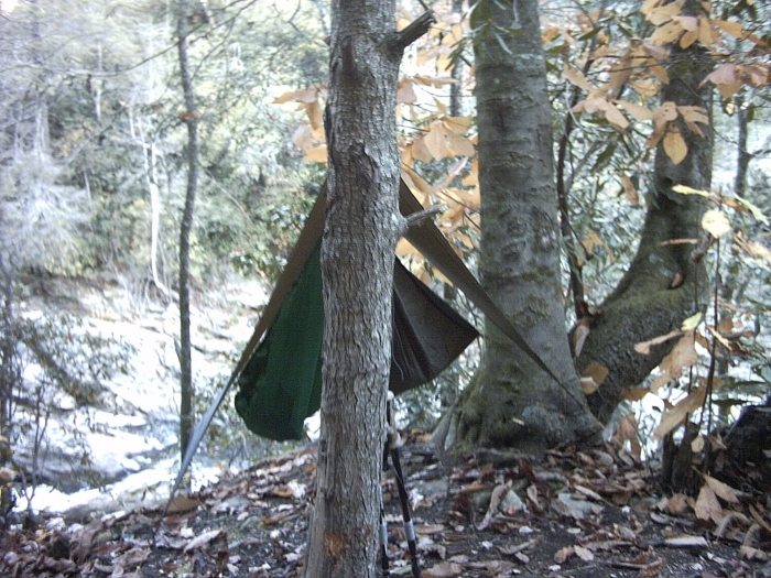 HH Explorer with JRB/JJ Gear Hammock in Linville Gorge Wilderness Area