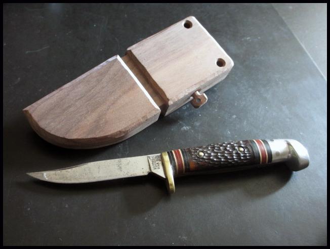 Diy Walnut Knife Sheath Necklace