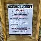 Bear warn