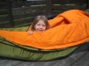 Little Daughter In Hammock