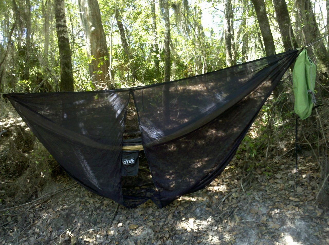 Hammock Setup On River