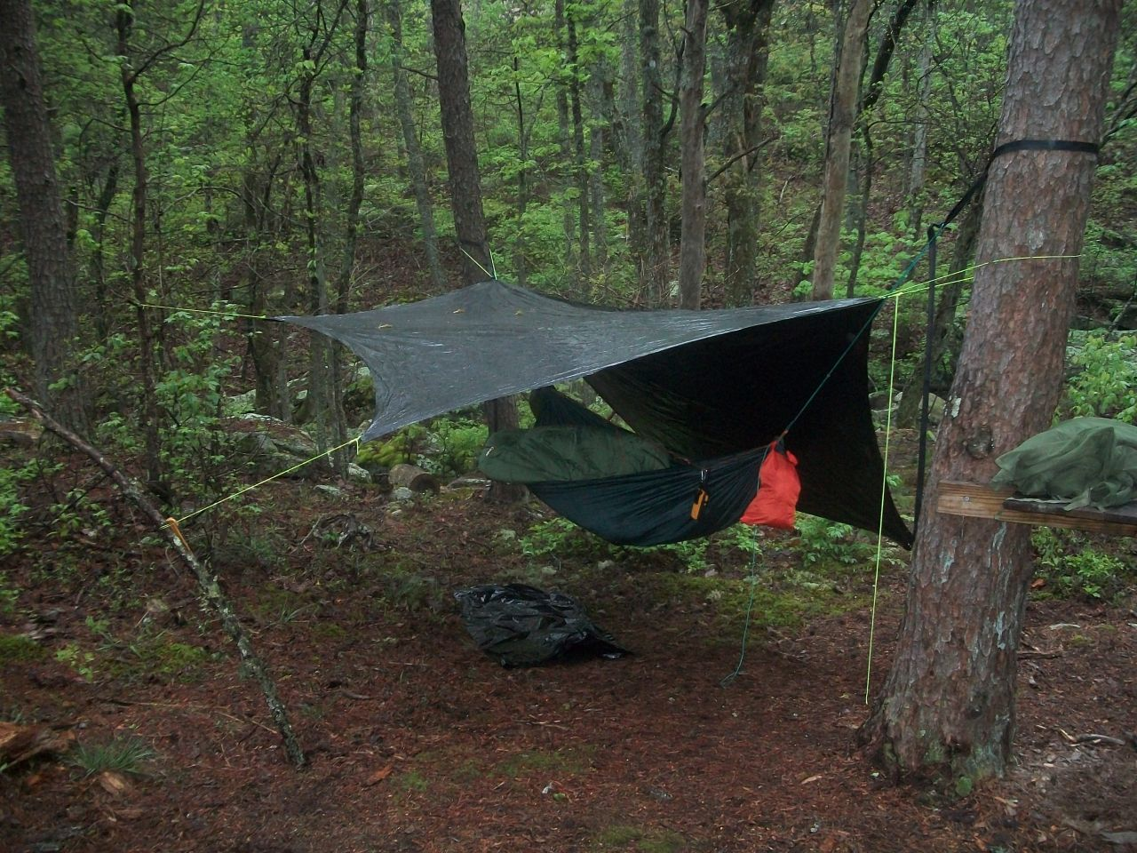 My First Hang - With My Diy Tarp.