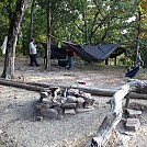 Group Hang by Simple Survival in Hammock Landscapes