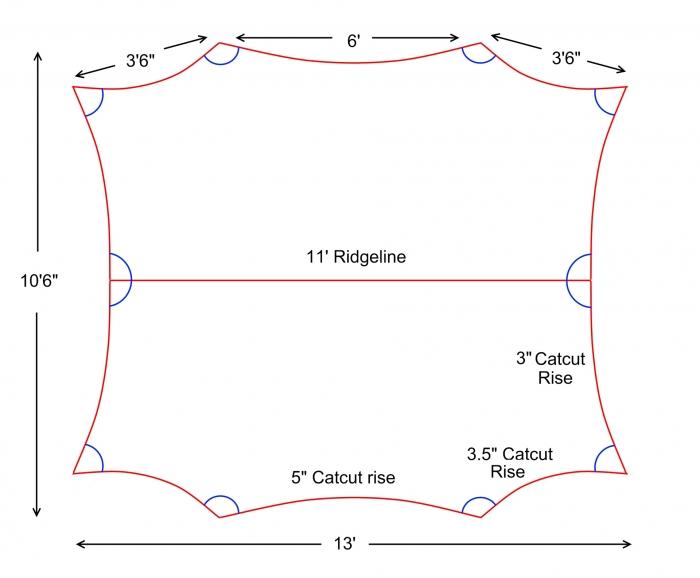 Tarp - 11x10 Catcut