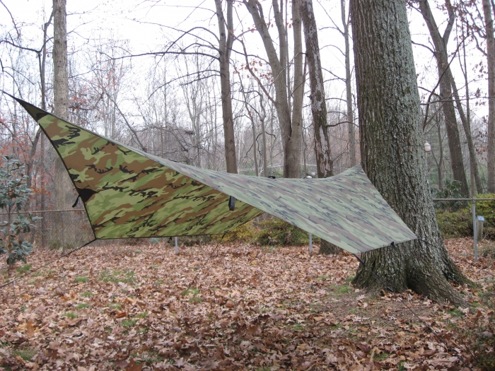 Modified 9x9 camo tarp.