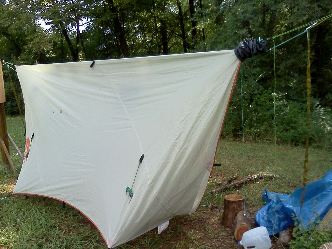 Tarp And Hammock On Same Suspension