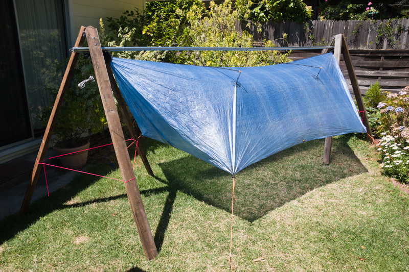 HG Tarp on Turtledog Stand