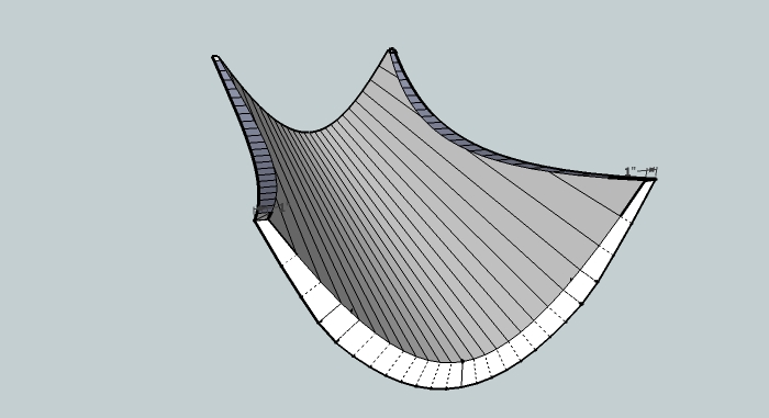 A Line Drawing Of An Insulated Bridge Hammock - 1