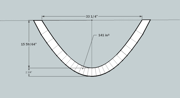 A Line Drawing Of A Transverse Cross-section Of An Insulated Bridge Hammock - 2