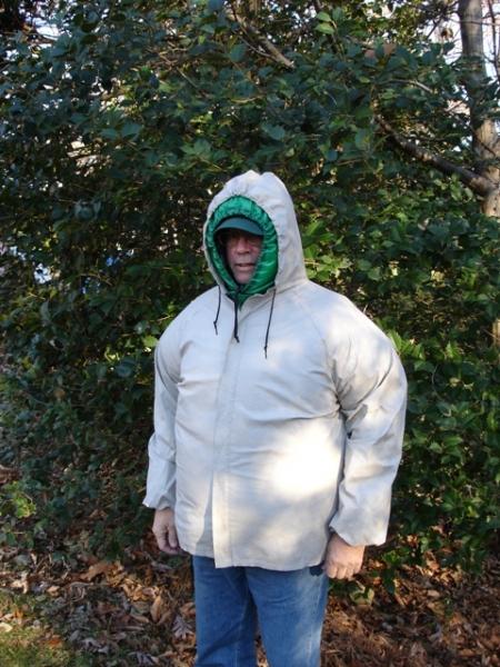 No Sniveller, Hood, & Sleeves Under a Dri-Ducks Jacket