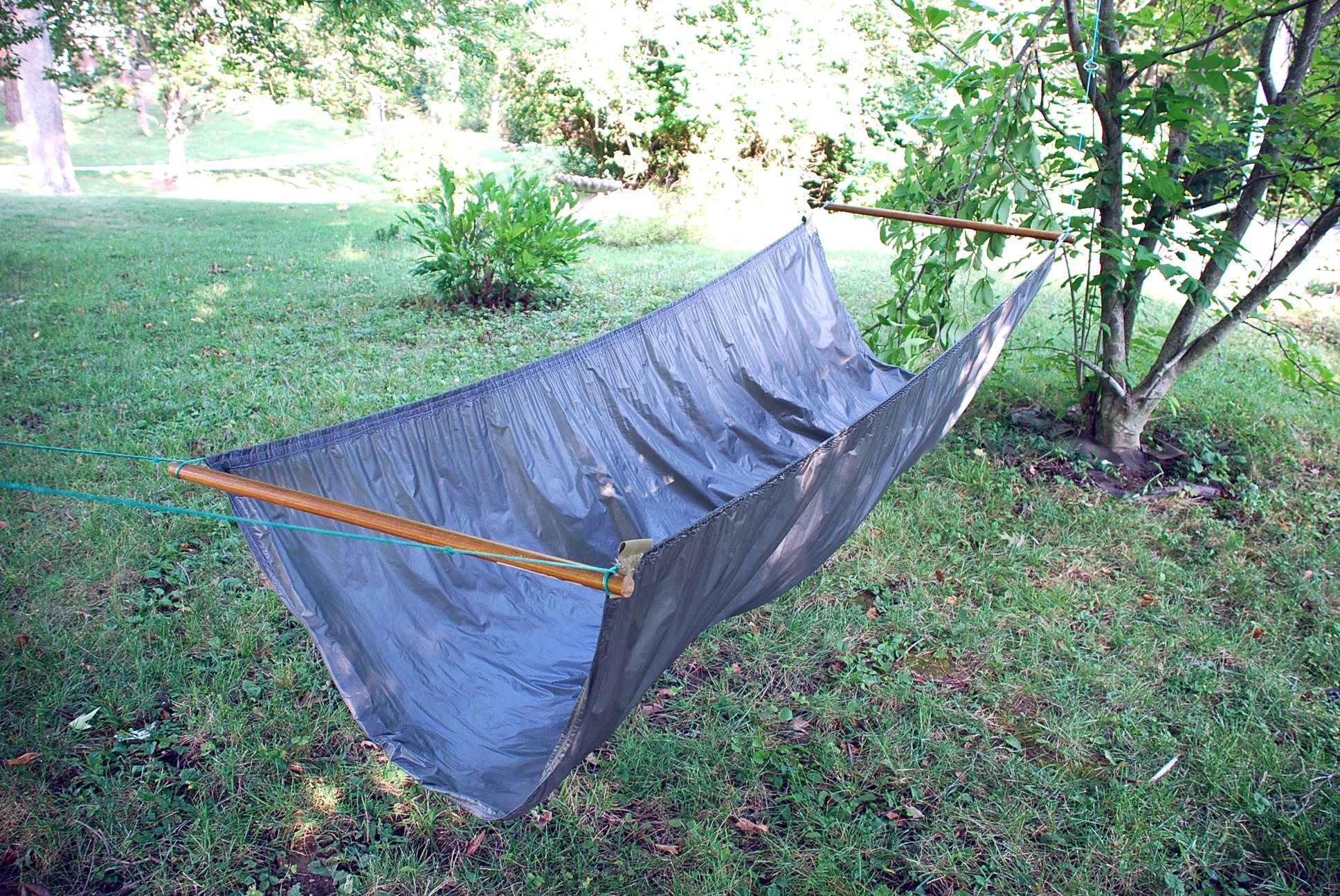 Medium image of my homemade bridge hammock and my mosquito hammock