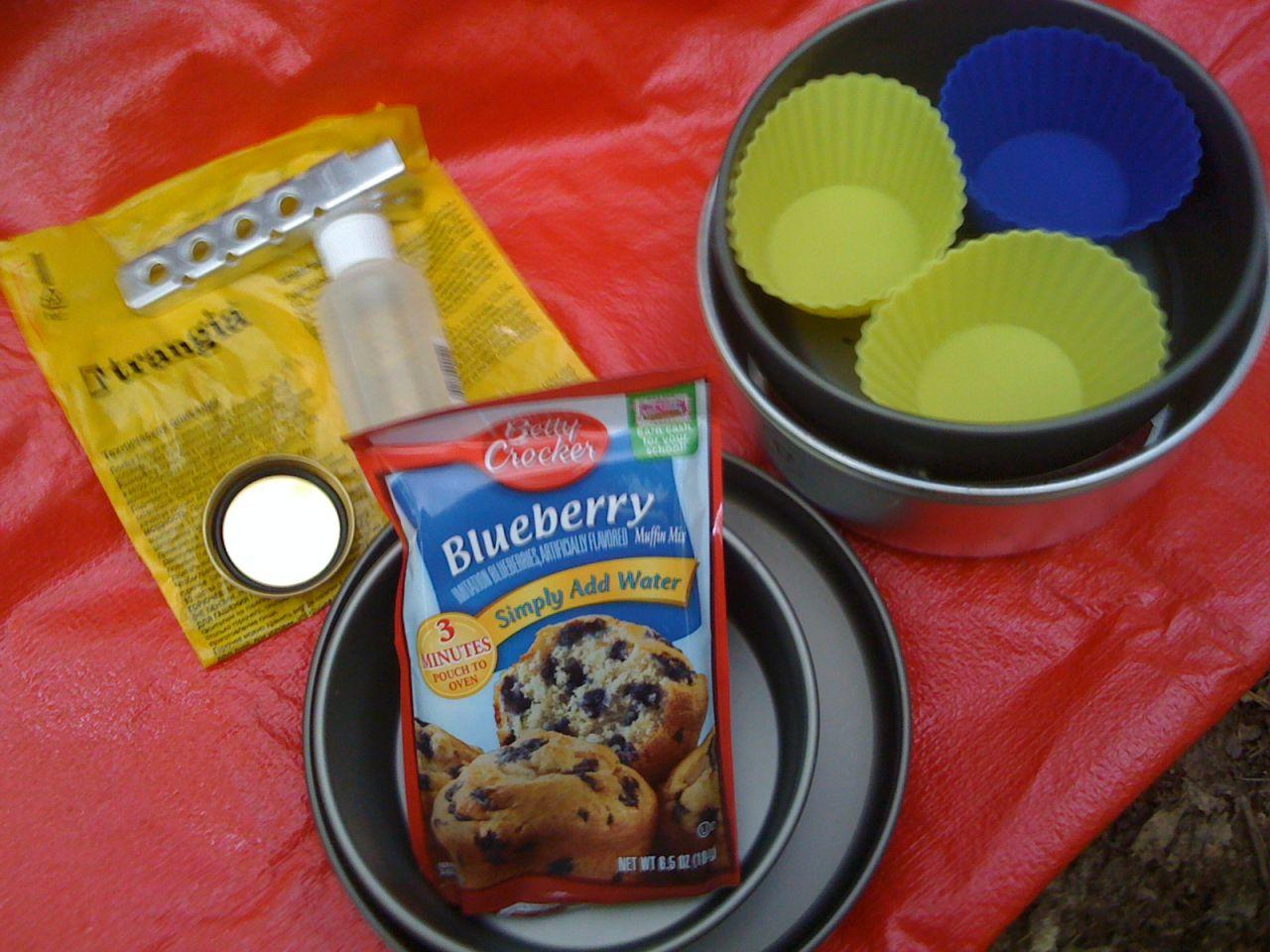 Muffins Prep- Using Trangia