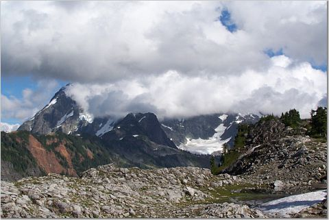 Clouds Cover Shuksan Sept in North Cascades