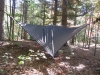 tarp attached to hammock plus 205lbs