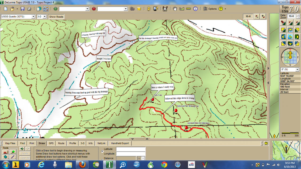 June 10 Off Trail Hike Map And Compass