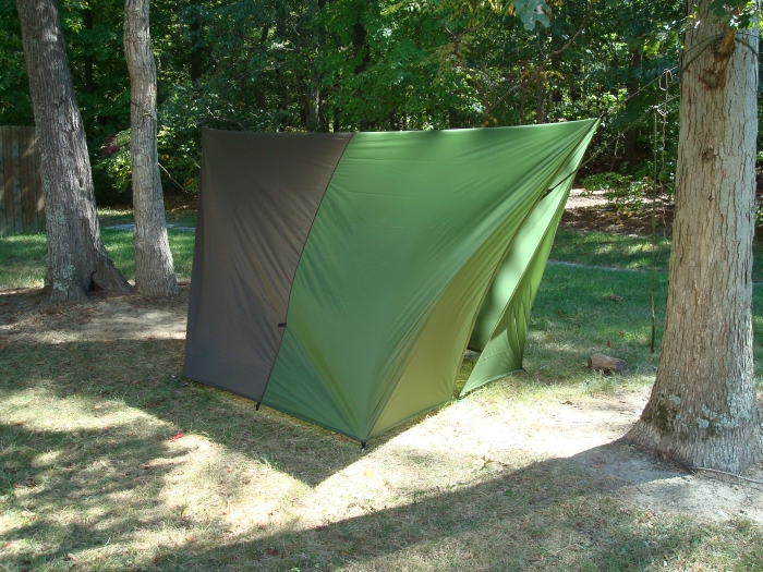 JRB 11 x 10 Cat Tarp around a Claytor Mosquito Hammock