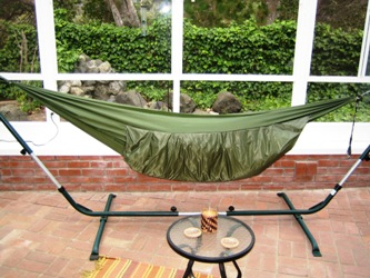 Down-insulated hammock