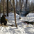 Second snow camp... by larrybourgeois in Hammock Landscapes