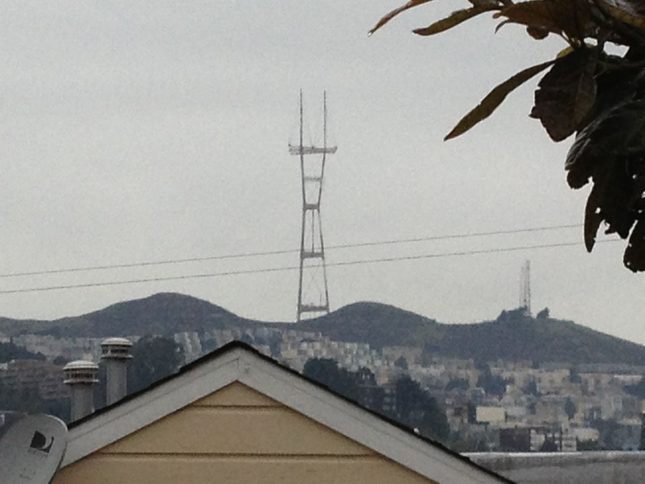 View Of Sutro Tower From The Back Deck