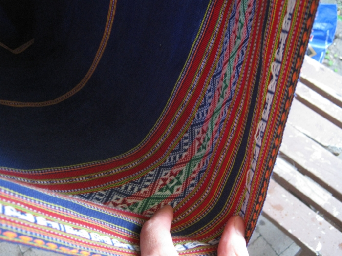Detail Of The Woven Sleeping Sheet