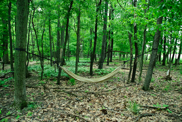 Double Layer Hammock And Suspension