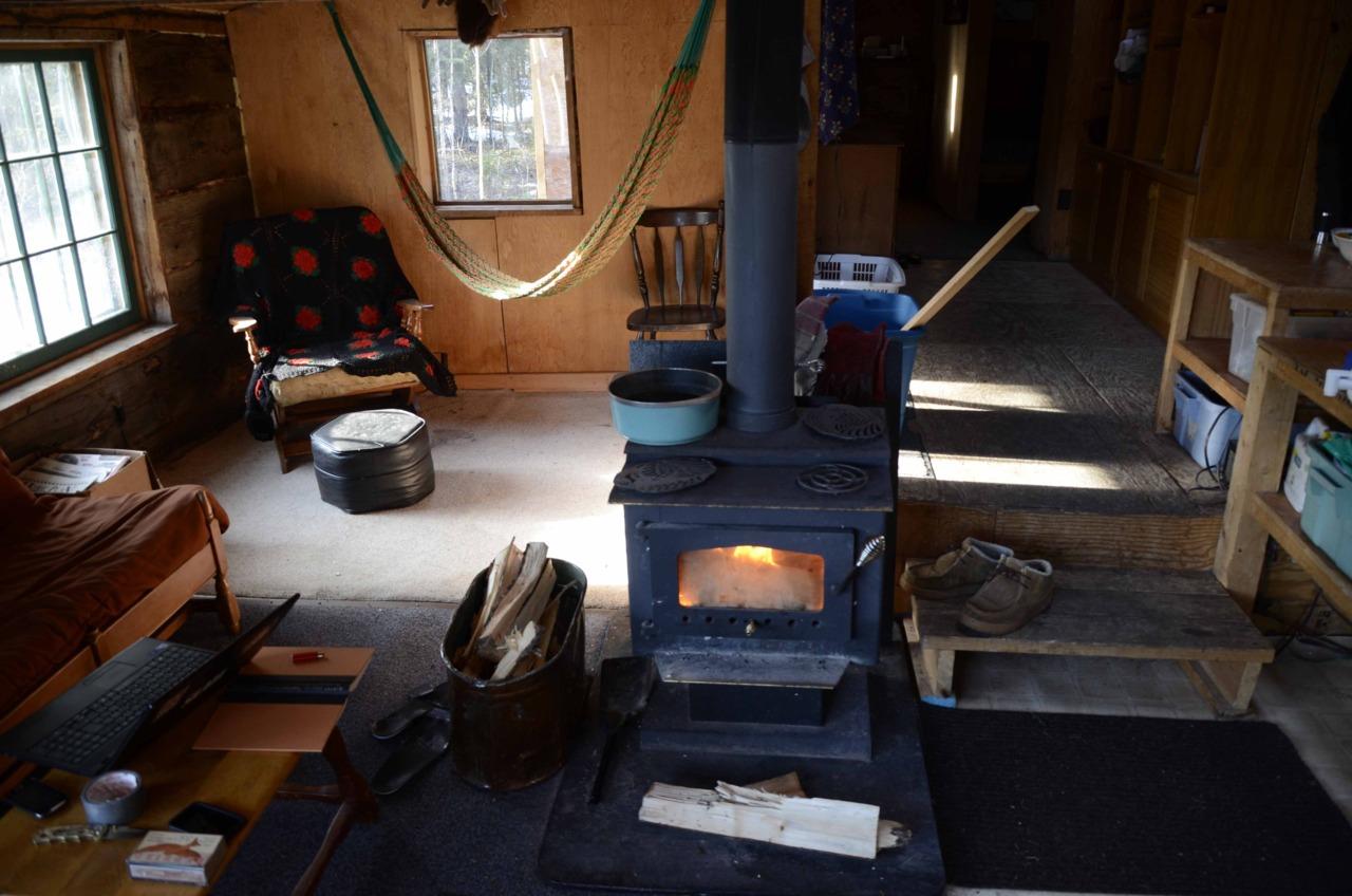 Hammock In A Rustic Cabin