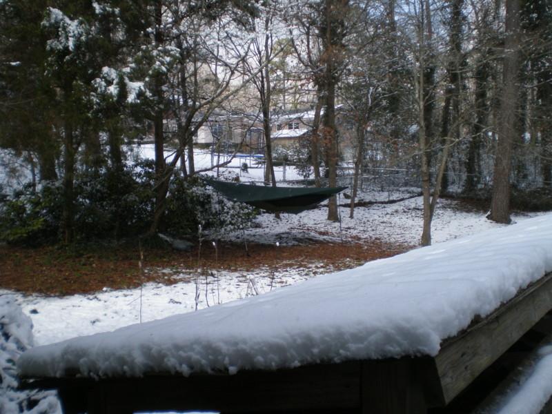Snow Ham Porch