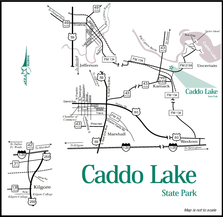 Caddo Lake State Park Directions