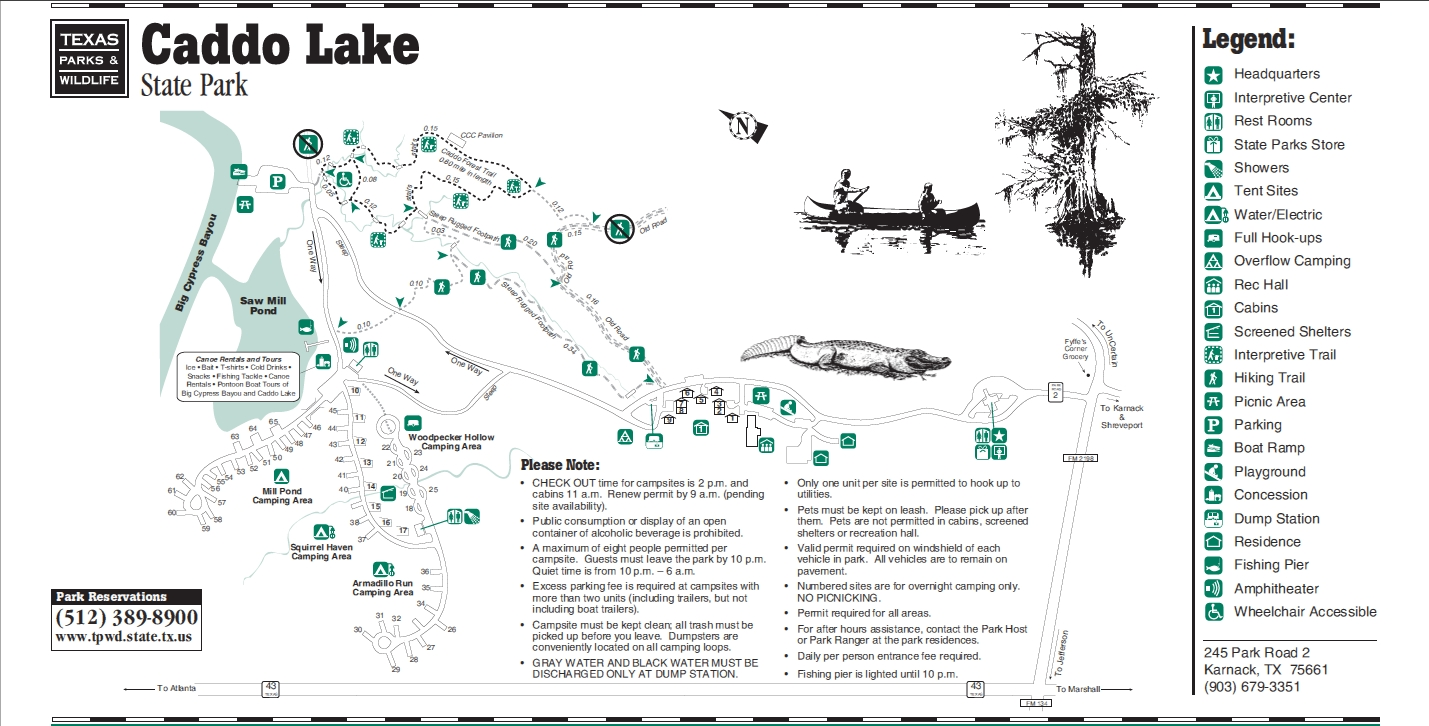 Caddo Lake State Park Campsite Map - Hammock Forums Gallery