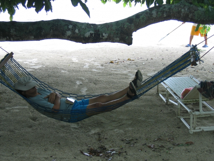 Me in a spreader type hammock